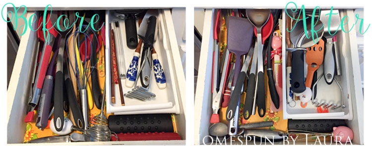 30 Projects in 30 Days | Organizing Kitchen Drawers | Homespun by Laura