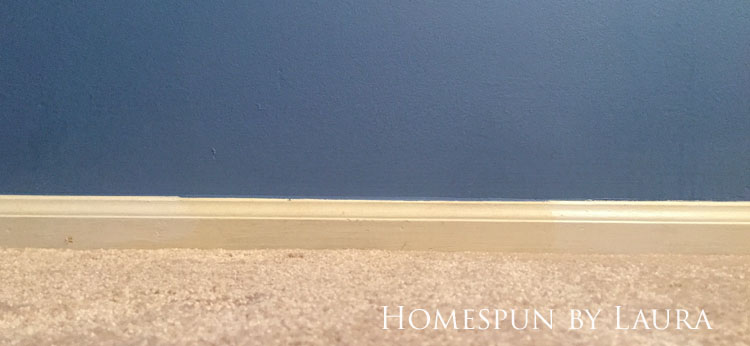 30 Projects in 30 Days | Touching up baseboards | Homespun by Laura