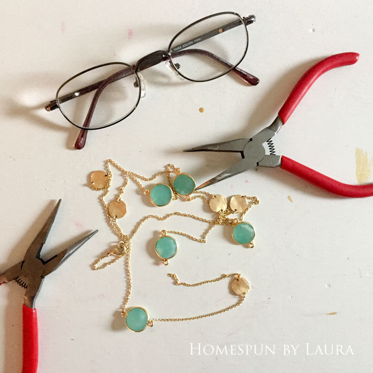 30 Projects in 30 Days | Fix broken necklace | Homespun by Laura