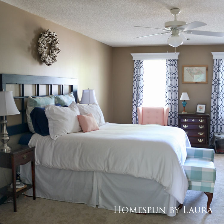 Master bedroom refresh   Homespun by Laura   Budget master bedroom redecoration