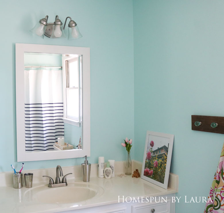 The $200 Master Bathroom Refresh   Homespun by Laura   Paint makes a big difference!