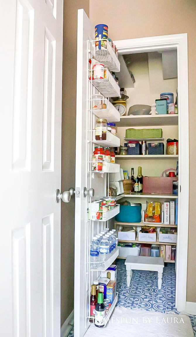 $75 DIY Powder Room (and Pantry!) Update: One Room Challenge Reveal   Homespun by Laura